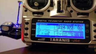 getlinkyoutube.com-FrSky Pixhawk Taranis RC display shows HUD, battery, GPS status - serial telemetry OpenTX