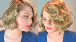 getlinkyoutube.com-Old Hollywood Finger Waves (Short Hair)