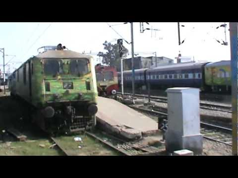Arriving at Ambala Cantt. Junction, and meeting mixed LHB, H-LHB, ICF rake: ASR- SDAH Exp