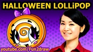 getlinkyoutube.com-How to Draw Halloween Candy - Lollipop - Easy Fun2draw Drawing