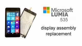 getlinkyoutube.com-Microsoft Lumia 535 - Touch Screen Glass Digitizer Replacement, LCD Display, Disassembly