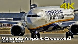getlinkyoutube.com-Valencia Airport Crosswind 2017 [4K]