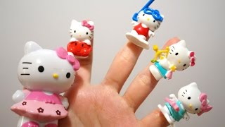 getlinkyoutube.com-Hello Kitty Finger Family song | Nursery Rhymes collection songs for children