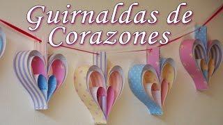 getlinkyoutube.com-Manualidades: Decoración de fiestas - 2 guirnaldas de corazones [Fáciles] - Manualidades para todos