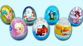getlinkyoutube.com-7 Surprise Eggs Disney Planes Spiderman Kinder Surprise Monster High Frozen Winnie Pooh Egg