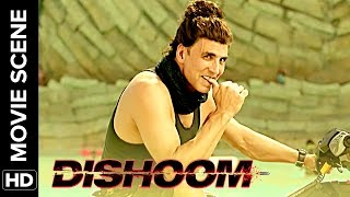 Akshay makes Varun and John strip | Dishoom | Movie Scene