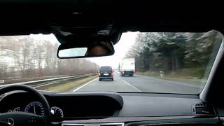getlinkyoutube.com-Driving fast on the Autobahn in a Mercedes S-Class (2)