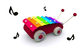 getlinkyoutube.com-Cartoons for babies. Baby toys: xylophone. Learn and sing musical notes in English