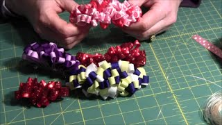 getlinkyoutube.com-Loopy Hair Ribbon Bow Barrette