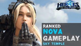 getlinkyoutube.com-Heroes of the Storm Ranked Gameplay - Nova Damage Build - Sky Temple