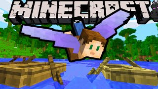 getlinkyoutube.com-Minecraft 1.9 Snapshot: Elytra Wings! Flying Hang Glider Gear, End City Ship Loot, New Paddle Boats