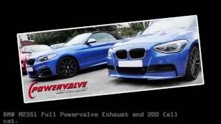 getlinkyoutube.com-BMW M235i Powervalve Exhaust and 200 Cell cat