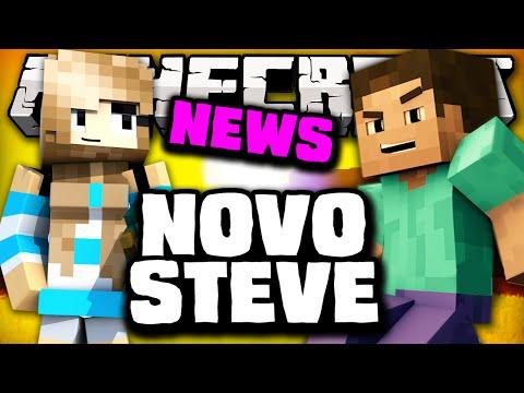 Minecraft: NOVO STEVE, MULHER NOVA SKIN! - Minecraft 1.9!