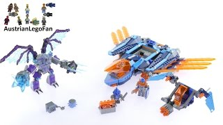 getlinkyoutube.com-Lego Nexo Knights 70351 Clay´s Falcon Fighter Blaster - Lego Speed Build Review