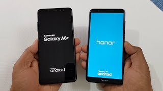 Samsung Galaxy A8+ (2018) vs Honor 7x Speed Test Comparison !