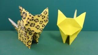 "getlinkyoutube.com-今にも動き出しそう!「猫」折り紙""Cat"" origami"