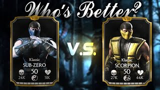getlinkyoutube.com-Klassic Sub Zero & Scorpion Review! Mortal Kombat X 1.6! IOS/Andriod
