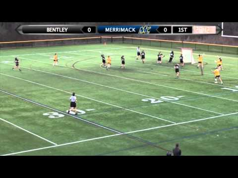 Women's Lacrosse (4-22-14) Bentley - 11, Merrimack - 6