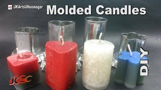 getlinkyoutube.com-DIY How to Make Birthday candles |  Molded candles | JK Arts 958