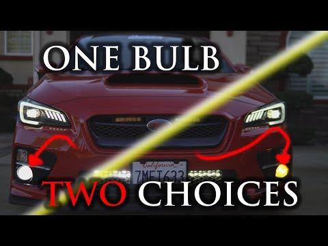 TWO COLORS ONE LED BULB! Auxbeam NF-B2