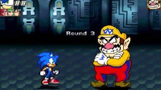 getlinkyoutube.com-MUGEN: MvC Sonic Vs. Wario