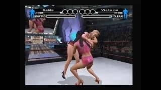 WWE SmackDown! Vs Raw - Sable vs Victoria Bra & Panties Match