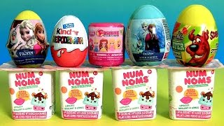 getlinkyoutube.com-NUM NOMS Mystery Cup Surprise Eggs Disney Frozen Clay Peppa Kinder Princess Fashems Mashems NumNoms