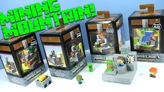 getlinkyoutube.com-Minecraft Mini-Figures Cave Biome Collection Mining Mountain 1 of 4