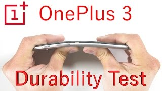 getlinkyoutube.com-OnePlus 3 Bend Test - Scratch Test - Burn Test - Durability video
