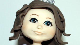 getlinkyoutube.com-Cabeça boneca Biscuit