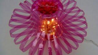 getlinkyoutube.com-Cómo hacer una lámpara reciclando botellas de plástico   How to recycle plastic bottles
