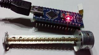 getlinkyoutube.com-Проект на Arduino: шаговый двигатель CD ROM
