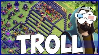 getlinkyoutube.com-CLASH OF CLANS : TROLL BASE #5 (3D BASE)