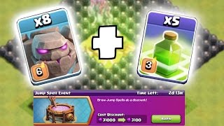 getlinkyoutube.com-NEW JUMP SPELL EVENT!!! 😀 SUPER JUMP WITH GOLEMS!!🔸Clash of clans