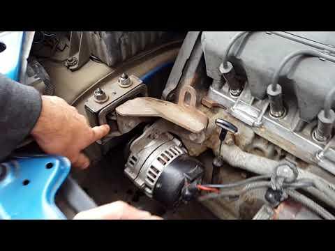 Замена правой опоры двигателя, подушки двигателя сенс