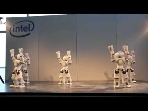 NAO Robot Dance during Intel Press Conference at Cebit 2011