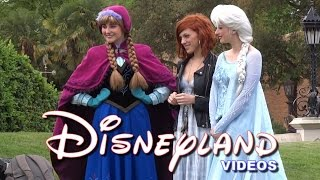 getlinkyoutube.com-Anaïs Delva, Anna et Elsa (tournage/shooting) - Disneyland Paris 2015 HD