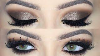 ♡Dramatic Brown Smokey Eye Makeup Tutorial! ♡ (English)