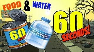 getlinkyoutube.com-ONLY FOOD & WATER CHALLENGE | 60 Seconds Game