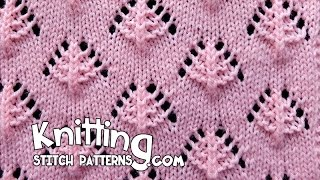 getlinkyoutube.com-Pine Trees | Lace Knitting Stitch #13