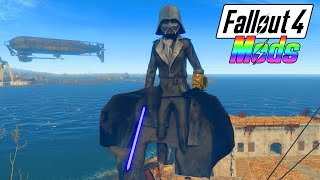 getlinkyoutube.com-FALLOUT 4 MODS #1 - 50 FT TALL DARTH VADER w/ LIGHTSABER! (Fallout 4 Mods Gameplay)