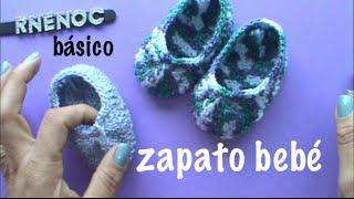 getlinkyoutube.com-ZAPATO PARA BEBE BASICO PUNTO ALTO, #GANCHILLO #CROCHET