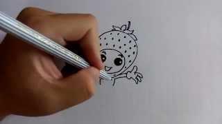 getlinkyoutube.com-วาดการ์ตูนกันเถอะ สอนวาดการ์ตูน สตรอเบอรี่ ง่ายๆ หัดวาดตามได้
