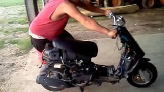 getlinkyoutube.com-Turbo charged moped!!