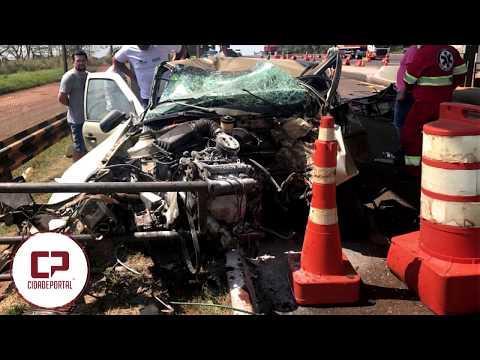 Jovem morre após colidir veículo na Praça de Pedágio de São Miguel do Iguaçu