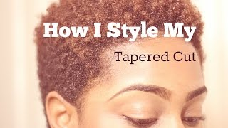 getlinkyoutube.com-Natural Hair | How I Style My Tapered Cut