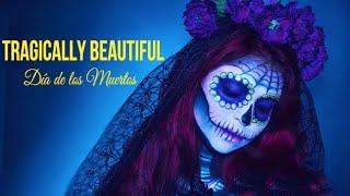 getlinkyoutube.com-Amazing Sugar Skull Makeup   Halloween   Tragically Beautiful