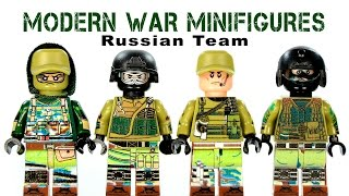 getlinkyoutube.com-LEGO Modern Warfare: Russian Team KnockOff Minifigures Set 1 (DeCool)