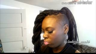getlinkyoutube.com-Styling chunky box braids with shaved sides