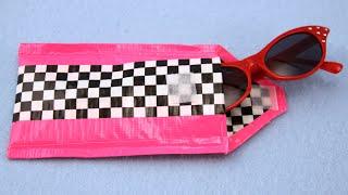 getlinkyoutube.com-How to Make a duct tape sunglass case   Sophie's World